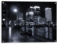 Canary Wharf Black & White, Acrylic Print