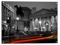 Bank of England & Royal Exchange, London, Acrylic Print