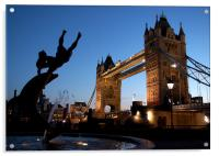 Tower Bridge, London. Sunset, Acrylic Print