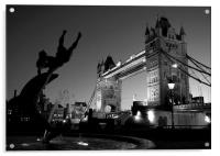 Tower Bridge Black & White (3), Acrylic Print