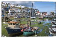 Mevagissey Harbour, Acrylic Print