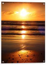 Dawn over Bonchurch., Acrylic Print