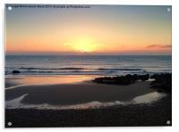 Pastel Sunrise, Acrylic Print