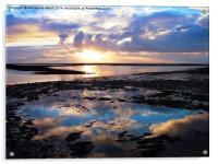 Sea Sunrise Reflection, Acrylic Print