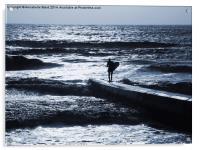 Shanklin Surfer, Acrylic Print