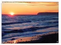 Spring Sunset, Acrylic Print