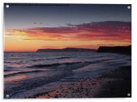 Brooke Beach Sunset, Acrylic Print