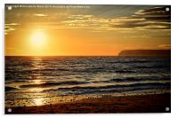Sea Sunset, Acrylic Print