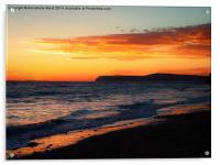 Sunset on Shore., Acrylic Print