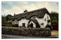 Country Cottage Thatched., Acrylic Print