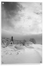 Snowy Gate, Acrylic Print