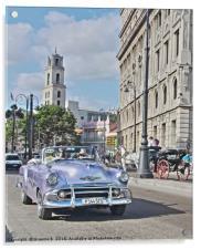 Cuba Car, Acrylic Print