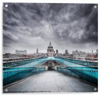 Millenium Bridge, London, Acrylic Print