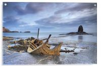 Shipwreck at Black Nab, UK, Acrylic Print