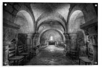 The Crypt at Lastingham Church, Acrylic Print
