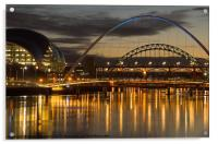 Dusk over the Tyne 2, Acrylic Print