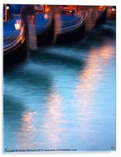 Venice Gondola Reflections, Acrylic Print