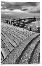 Whitby Pier, North Yorkshire, Acrylic Print