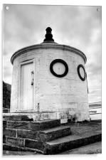 Whitby Harbour, Round House, Acrylic Print