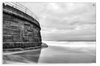 Whitby, Sea Wall, Acrylic Print