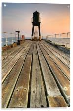 Whitby, West Pier, Acrylic Print