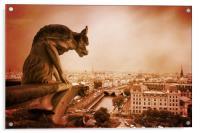 Paris Guardian - Notre Dame Gargoyle, Acrylic Print