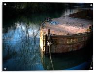 Rusty Barge, Acrylic Print