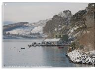 The end of Portree pier in winter, Acrylic Print