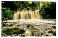 Chrachaig river falls, Scorrybreac., Acrylic Print