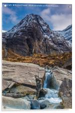Waterpipe Gully down side of Sgurr an Fheadain , Acrylic Print