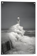 Silver City Storm, Acrylic Print