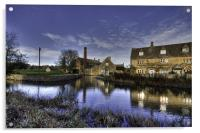 Lower Slaughter Mill, Acrylic Print