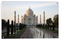Taj Mahal At Sunset, Acrylic Print