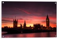 Sunset over Parliament, Acrylic Print