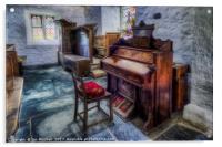 Olde Church Organ , Acrylic Print