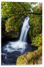 Snowdonia Waterfall, Acrylic Print