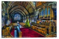 Christmas Church Service, Acrylic Print