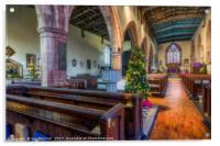 Church At Christmas, Acrylic Print