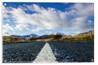 Road to Snowdon, Acrylic Print