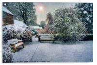 Snowy Park, Acrylic Print
