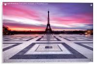 Paris Sky on Fire, Acrylic Print