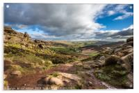 The valley, The Roaches, Peak District, UK, Acrylic Print
