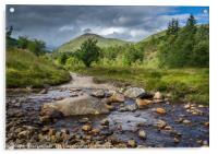 Strathfillan, Rannoch Moor, Tyndrum Valley, Taigh , Acrylic Print