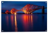 Forth Bridge blue hour, Acrylic Print