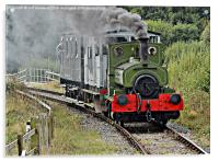 Bygone age of steam, Acrylic Print