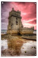 Torre de Belem Lisbon, Acrylic Print