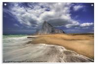 Lavante Over Gibraltar, Acrylic Print