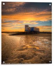 Lifeboat Station Sunset, Acrylic Print
