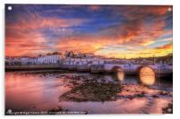 Sunset at Tavira Portugal, Acrylic Print