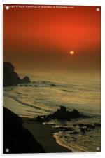 Castelejo Beach Sunset, Acrylic Print